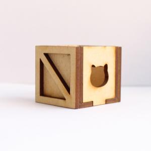 ねんどろいどスケール よくある木箱 完成品 ドールハウス|mamekou-boo