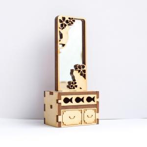 12分の1スケール 鏡台(きょうにゃい) 完成品 ドールハウス|mamekou-boo