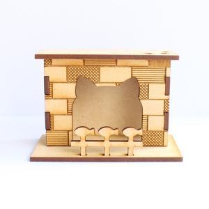 12分の1スケール 暖炉(にゃんろ) 完成品 ドールハウス|mamekou-boo