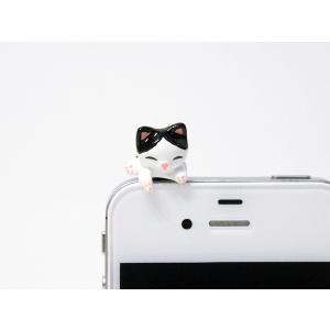 トラ猫 乗っかりイヤホンジャック|mamekou-boo