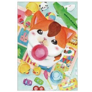 ちょーだいっ 猫ポストカード|mamekou-boo