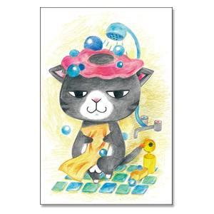 きゃーエッチー。 猫ポストカード|mamekou-boo