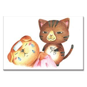 看病 猫ポストカード|mamekou-boo