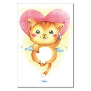耳かきの至福 猫ポストカード|mamekou-boo