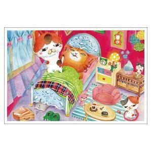 起こし方が雑 猫ポストカード|mamekou-boo