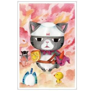チョット世界救ってくるわ 猫ポストカード|mamekou-boo