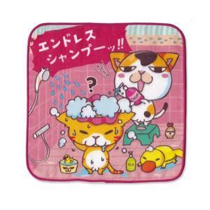 4重ガーゼ まめ猫ハンドタオル エンドレスシャンプー  HT-8|mamekou-boo