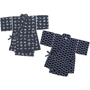 子供 甚平 じんべい とんぼ柄・さかな柄和文様 藍染風甚平スーツ (120cm〜130cm) 子ども 05P06Aug16|mammam
