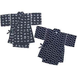 子供 甚平 とんぼ柄・さかな柄和分様・藍染風 甚平スーツ 80〜110cm こども じんべい 05P06Aug16|mammam