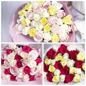 バラの花束 【MIX】 年齢の数で贈れる 誕生...の詳細画像2