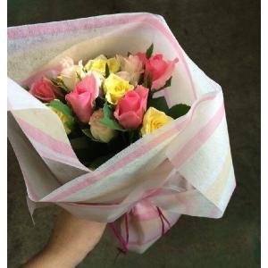 バラの花束 【イエロー】 年齢の数で贈れる 誕...の詳細画像1