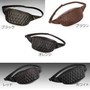 EASYRIDERS/イージーライダース/ダイアゴナルウエストバッグ PVC製 【ウエストバッグ】 <レザー/ステッチ/黒|mamoru-k