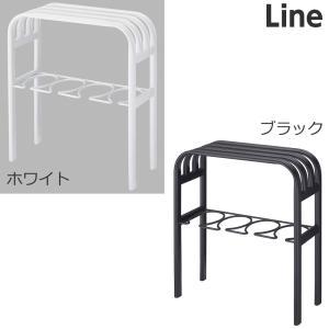 【ベンチブーツラック ライン】(ホワイト,ブラック) ブーツラック シンプル すっきり スッキリ|mamoru-k