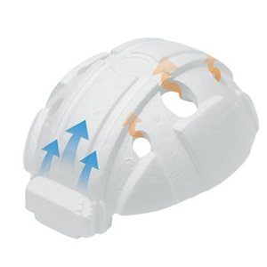 作業ヘルメット交換用スチロール 加賀産業 FCパット(標準) 交換用スチロール 工事用 土木 建築