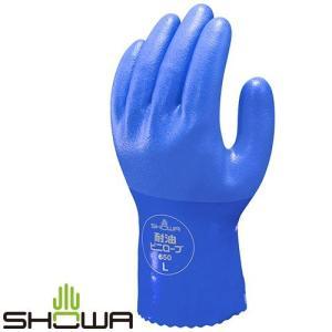 塩ビ手袋 SHOWA ショーワグローブ 耐油ビニローブ [10双入] No.650 ビニール手袋 裏布あり mamoru-k