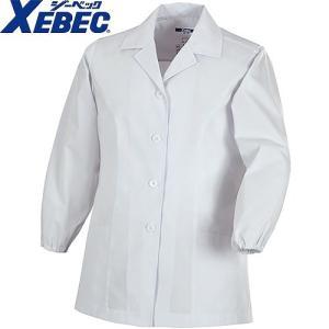 ジーベック XEBEC 25115 レディース長袖上衣(襟付き) 白 通年 秋冬用 女性用 婦人用 作業服 作業着 調理服 厨房白衣 ユニフォーム|mamoru-k