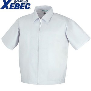 ジーベック XEBEC 25216 半袖ファスナージャンパー(襟付き) 白 通年 秋冬用 メンズ レディース 男女兼用 作業服 作業着 白衣|mamoru-k