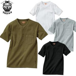 Tシャツ 半袖 クロダルマ DGROW リブニットTシャツ DG804 半袖Tシャツ 2018年秋冬新作|mamoru-k