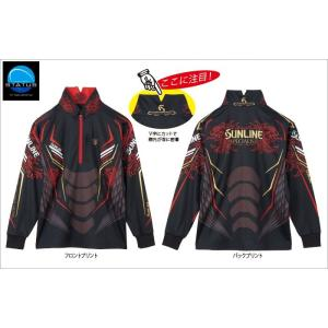 サンラインウエア ステータスPROジップアップシャツSTW-5562HTブラック manboo-shop