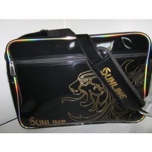 サンラインショルダーバッグMサイズブラック/獅子SFB-0627|manboo-shop