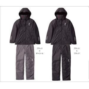 サンラインMPウォームアップスーツSUW-1807ブラックxブラック|manboo-shop