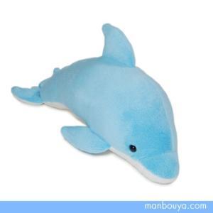 イルカのぬいぐるみ 水族館 グッズ おみやげ 海の生き物 シンプルで可愛い アクアクラブ イルカブルーSサイズ 26cm まんぼう屋ドットコム|manbouya