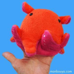 メンダコのぬいぐるみ ハンドパペット 指 人形 深海生物 水族館グッズ AQUA 歩け軟体くん 面蛸 高さ10cm|manbouya