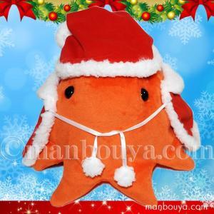 5%OFF メンダコのぬいぐるみ クリスマス A-SHOW 栄商 しんかいさん メンダコ Mサイズ 20cm サンタ衣装  まんぼう屋ドットコム manbouya