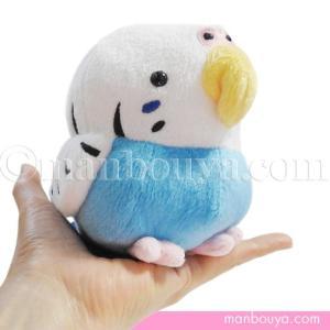 ころんと丸い形がかわいい、セキセイインコ(小鳥)のぬいぐるみ。 小さいころ飼っていましたが、この青と...