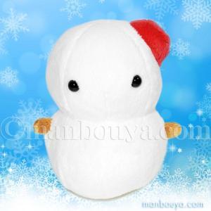 丸くてかわいい雪だるまのぬいぐるみ。赤い帽子がおしゃれ。 人気のムニュマムシリーズ。ほんわかとした雰...