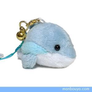 イルカのぬいぐるみ 携帯ストラップ マスコット ビッグウッド カラフルイルカ ブルー 6cm 【ゆうパケット送料166円発送可】|manbouya