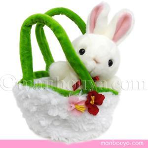 ぬいぐるみ うさぎ キュート販売 CUTE farm collection お出かけシリーズ ウサギホワイト 14cm|manbouya