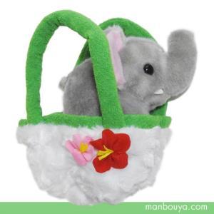 可愛い動物のぬいぐるみメーカー「キュート販売」さんのサファリコレクション象のぬいぐるみ。 お花がつい...