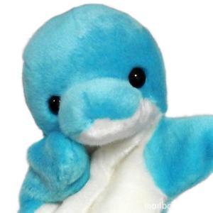 イルカ ぬいぐるみ ハンドパペット キュート販売 CUTE 水族館グッズ パペットコレクション イルカブルー まんぼう屋ドットコム|manbouya