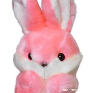 ぬいぐるみ うさぎ ハンドパペット キュート販売 CUTE パペットコレクション ウサギ ピンク まんぼう屋ドットコム|manbouya
