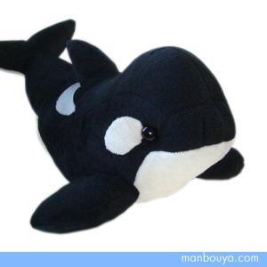 シャチのぬいぐるみ 水族館 グッズ おみやげ 海の生き物 ISHIWATA オルカ Mサイズ 35cm まんぼう屋ドットコム|manbouya