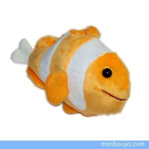 魚のぬいぐるみ 水族館 グッズ 海の生き物 海中散歩おともだちビーンズ カクレクマノミ15cm まんぼう屋ドットコム|manbouya