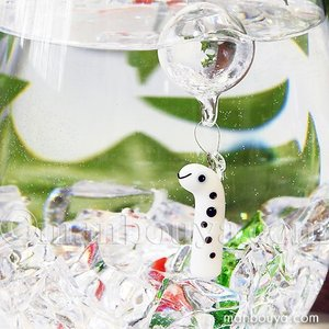 チンアナゴ グッズ インテリア 雑貨 フロート 浮き玉 ガラス細工 海の生き物 浮き球 ちんあなご|manbouya