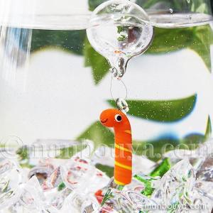 ニシキアナゴ グッズ インテリア 雑貨 フロート 浮き玉 ガラス細工 海の生き物 浮き球 錦あなご|manbouya