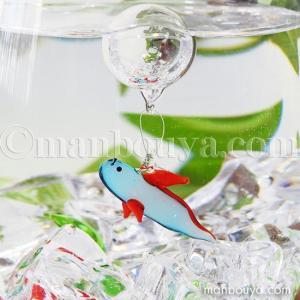 深海魚 グッズ インテリア 雑貨 フロート 浮き玉 ガラス細工 浮き球 リュウグウノツカイ|manbouya