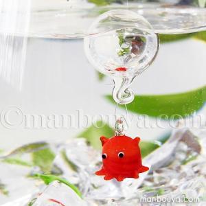 深海魚 メンダコ グッズ インテリア 雑貨 フロート 浮き玉 ガラス細工 浮き球 めんだこ|manbouya