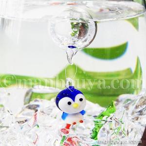 ペンギン グッズ ミニチュア ガラス細工 浮き玉 フロート フォーカート 浮き球 ぺんぎん 立ち|manbouya