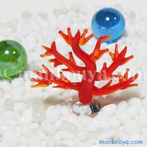 とても小さい硝子製のサンゴです。 ミニサイズで場所を選ばずに飾ることが出来る、ユニークな夏のインテリ...
