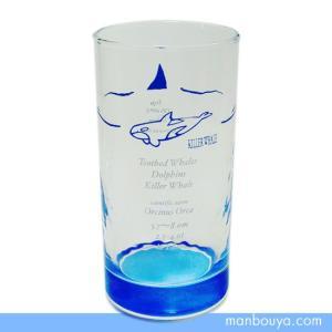 シャチグッズ グラス/ガラス製コップ サンセラ工芸 マリンサイエンス レギュラータンブラー|manbouya