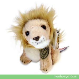 オーロラワールド ライオンのぬいぐるみマスコット オーロラ社ネイチャーキッズリアル ライオン10cm 【お取り寄せ品】|manbouya
