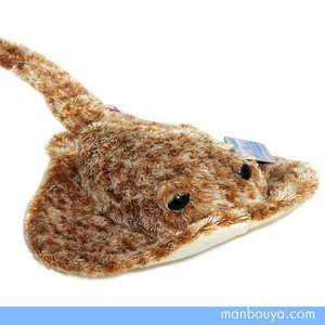 オーロラワールド エイのぬいぐるみ 水族館 グッズ オーロラ社アクアブリーズ アカエイ 30cm まんぼう屋ドットコム|manbouya