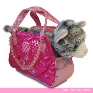 オーロラワールド ネコのバッグ入りぬいぐるみ バービーファンシーパルズ アメリカンシートヘア17cm 【お取り寄せ品】|manbouya
