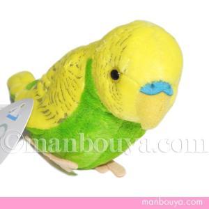 黄色と緑が綺麗なセキセイインコのぬいぐるみ。ペットとしても人気のある小鳥です。 TST太洋産業貿易さ...