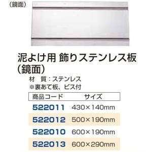 泥除け用飾りステンレス板鏡面 600×190mm 自動車パーツ 217 mandeichi