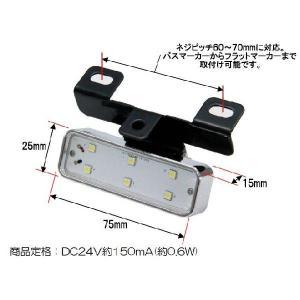 ドアサイドマーカーランプ LED6 ハイパワーダウンライトNEO DC24V専用 自動車パーツ 217|mandeichi